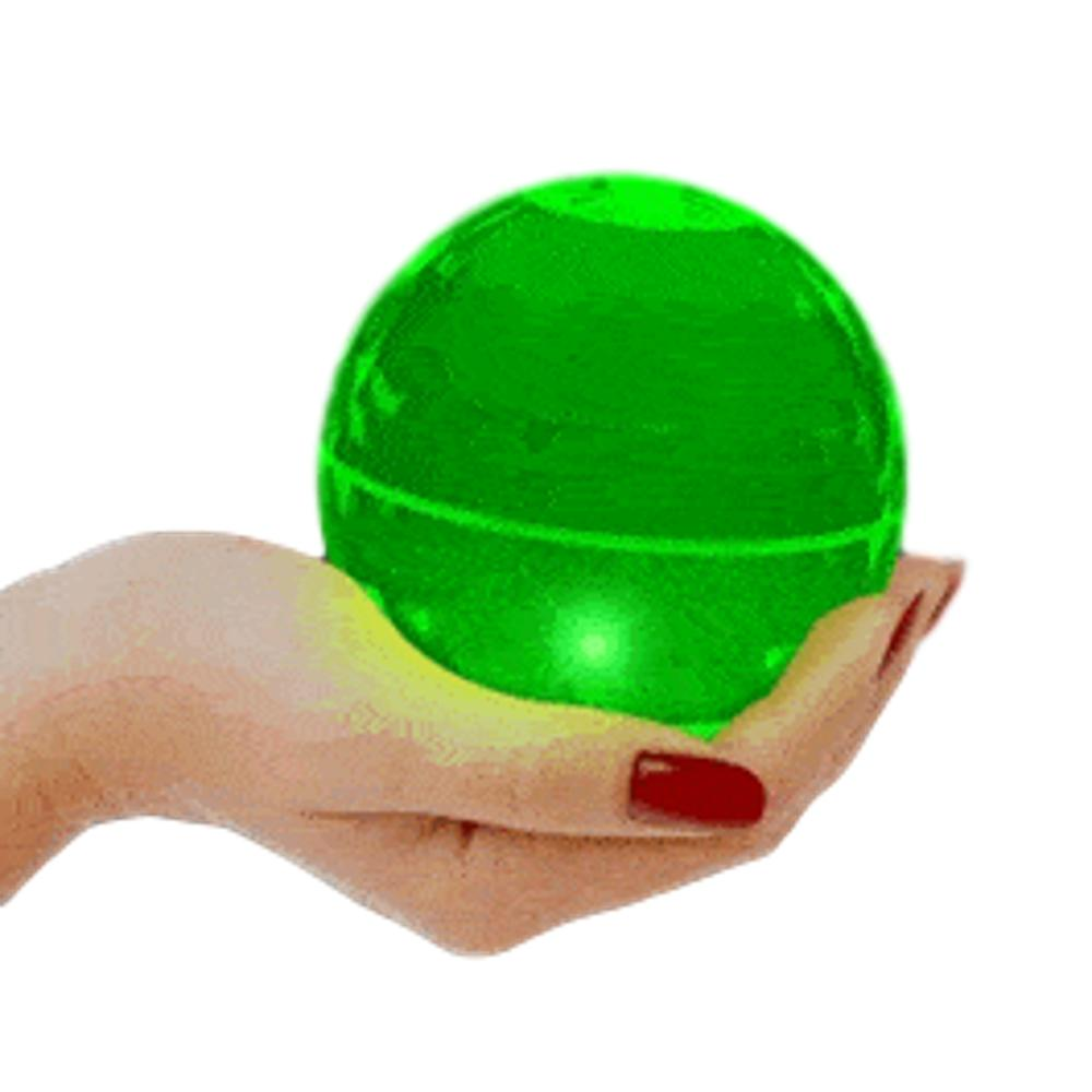 4 Inch LED Super Bounce Ball Green All Products