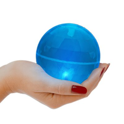 4 Inch LED Super Bounce Ball Blue Blue