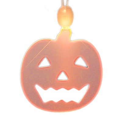 LED Acrylic Pumpkin Necklace Orange