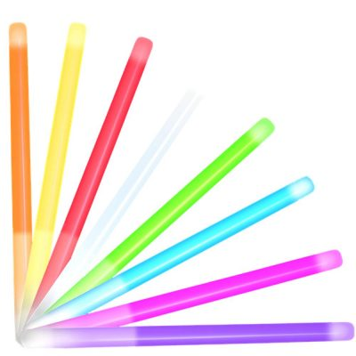 10 Inch Glow Stick Baton Assorted Pack of 25 All Products