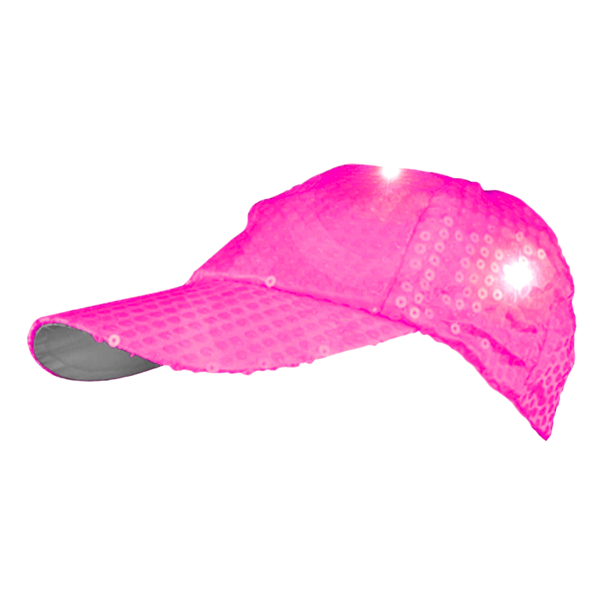 LED Sequined Baseball Hat Pink All Products
