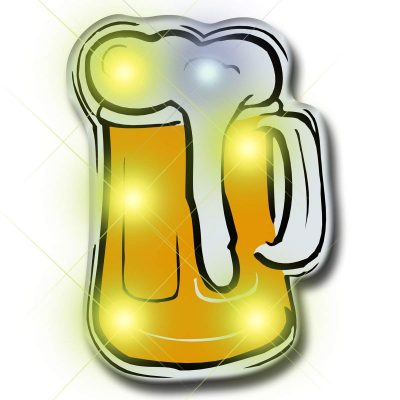 Beer Flashing Body Light Lapel Pins All Body Lights and Blinkees