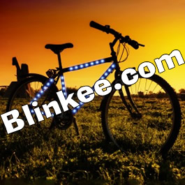 Bike Frame LED Strip Tape Blue Blue