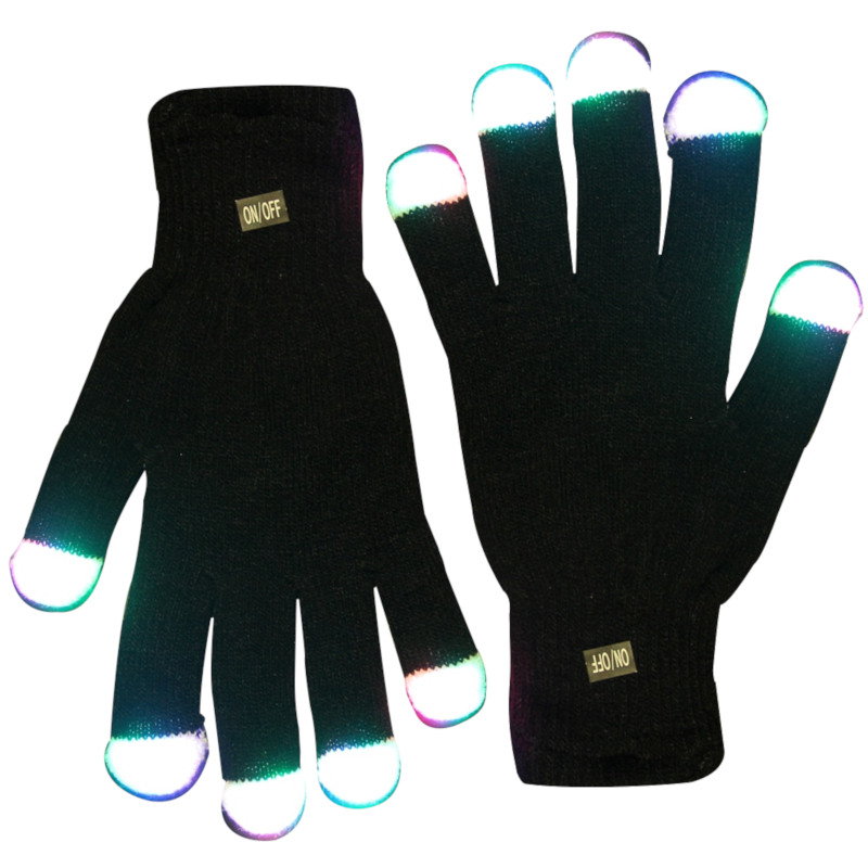 LED Black Gloves Multicolor LEDs All Products