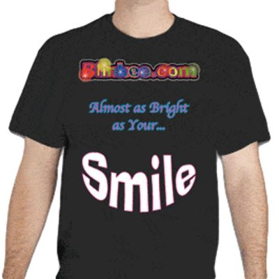 Blinkeedotcom Smile T Shirt Medium LED Fashion and Costumes