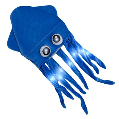 Assorted LED Under the Sea Squid Hat Pack of 4 All Products