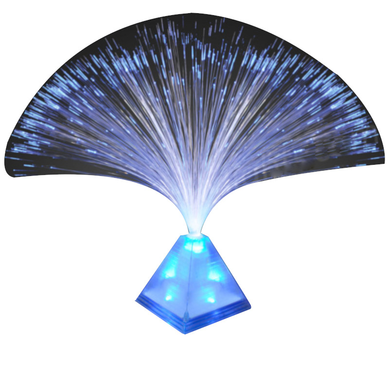 Fiber Optic Pyramid Centerpiece Blue All Products