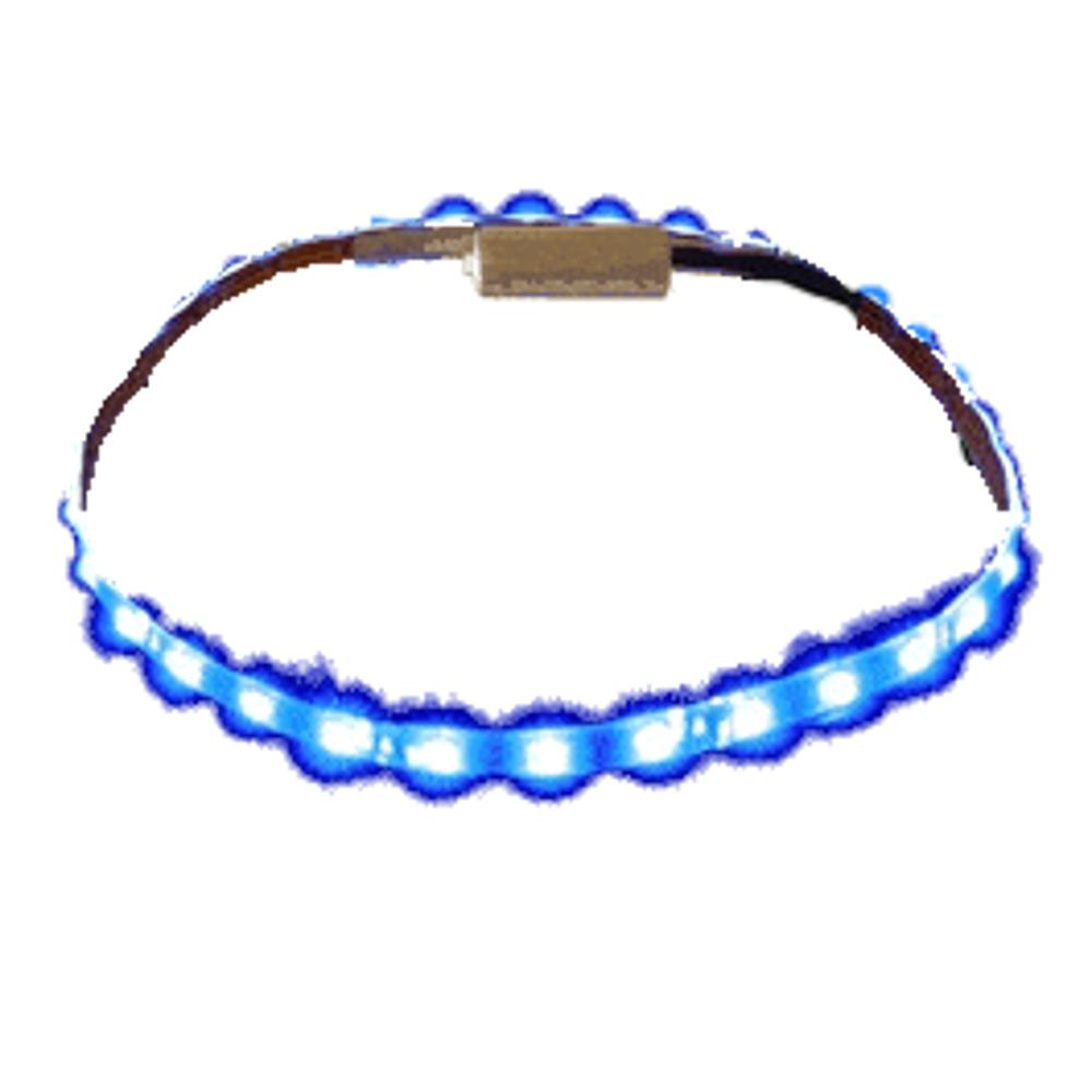 Blue LED Flexible Light Strip Black Background All Products