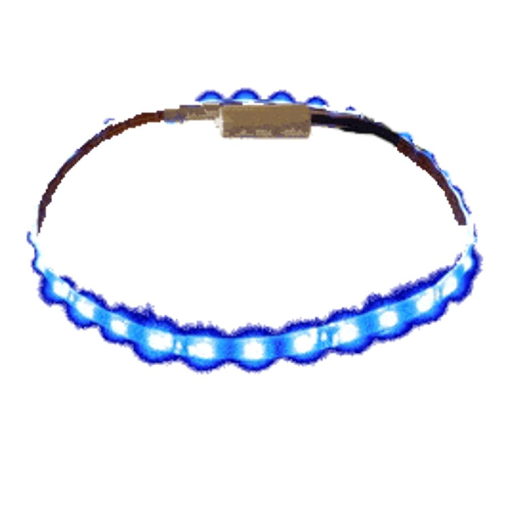 Blue LED Flexible Light Strip White Background All Products