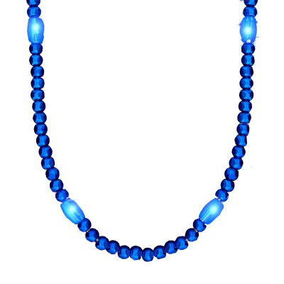 LED Necklace with Blue Beads Blue