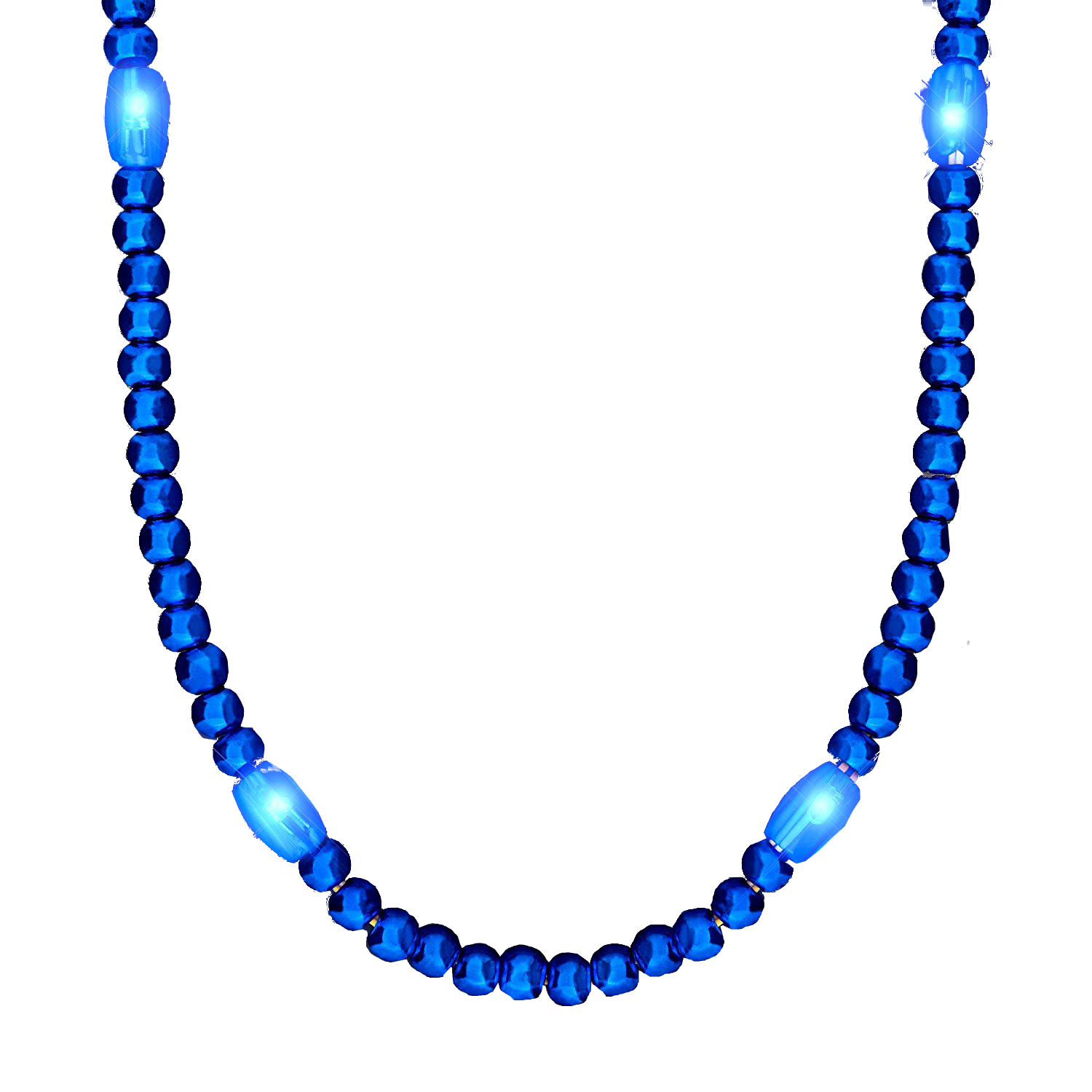LED Necklace with Blue Beads 4th of July