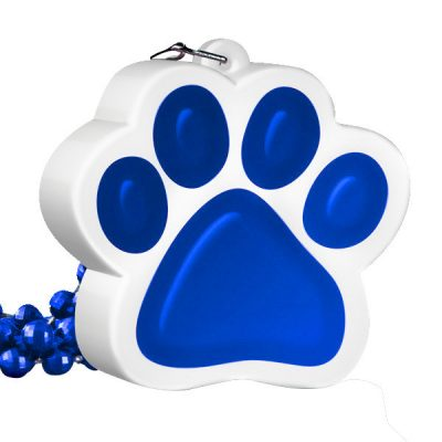 Light Up Blue Paw Print Charm Necklace All Products