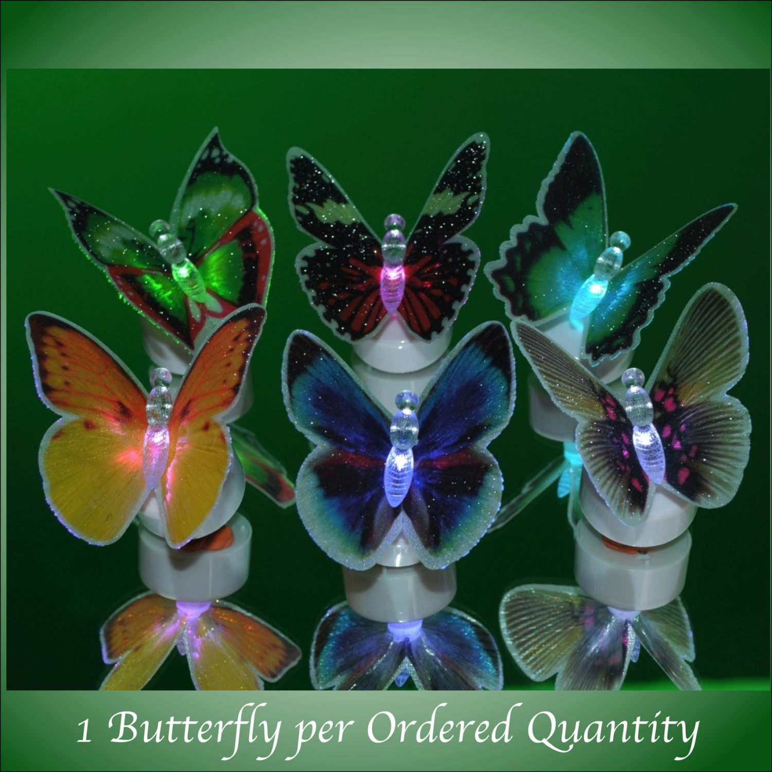 Color Changing Fiber Optic Beautiful Butterfly Assorted All Products