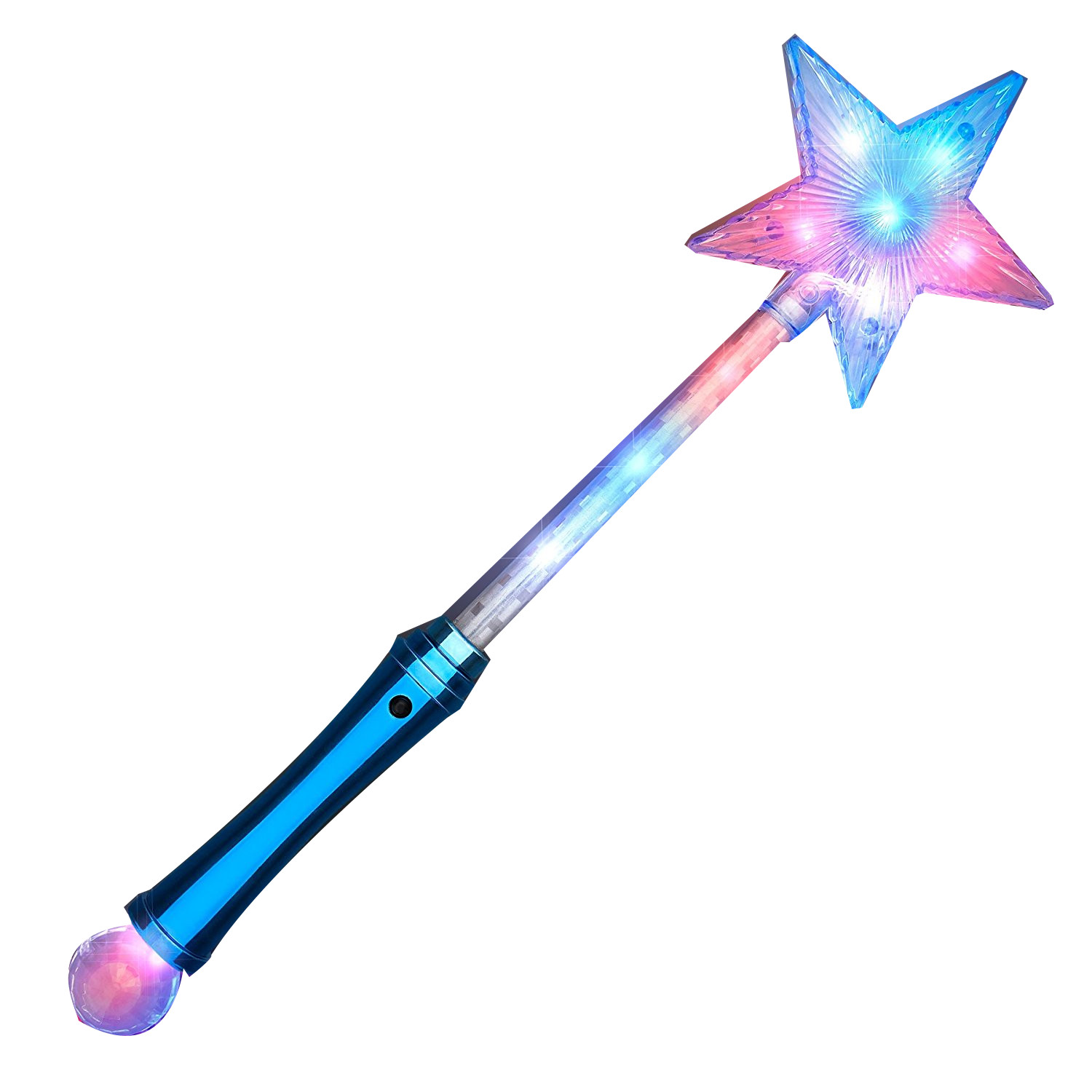 Crystal Star Wand With Red White And Blue Leds Magic