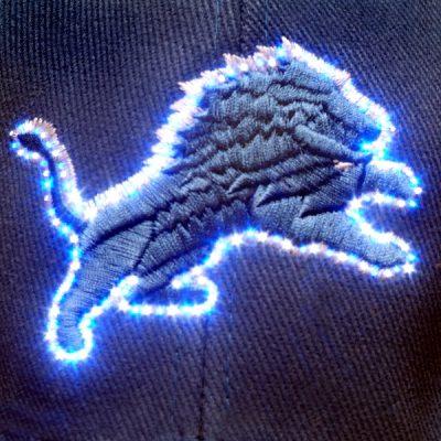 Detroit Lions Flashing Fiber Optic Cap All Products