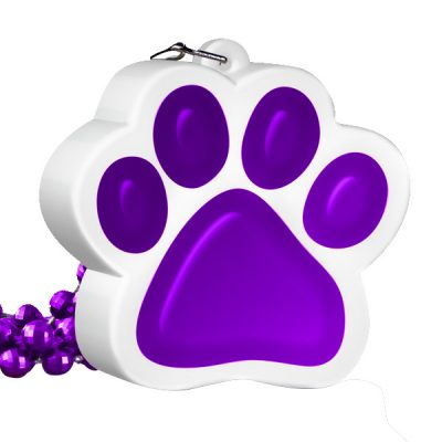Light Up Purple Paw Print Charm Necklace All Products