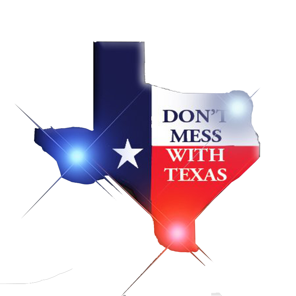 Dont Mess with Texas Flashing Body Light Lapel Pins 4th of July