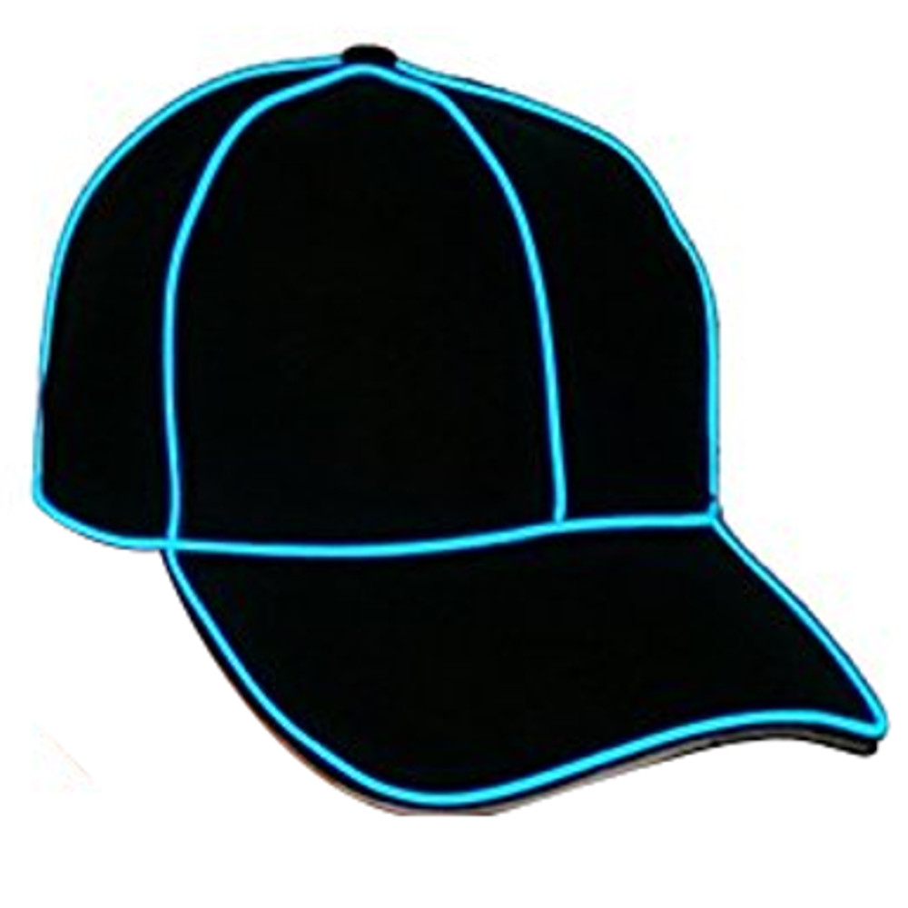 Electro Luminescent Baseball Hat Blue All Products