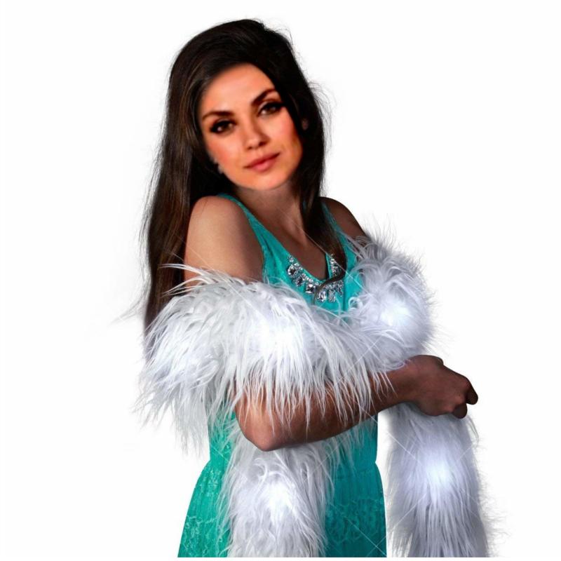 LED Faux Fur Boa White All Products
