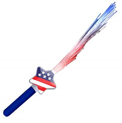 Fiber Optic Stars and Stripes Wand 4th of July