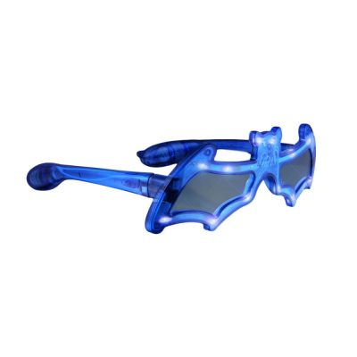 LED Bat Shaped Sunglasses Blue Blue