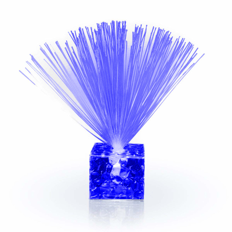 Fiber Optic Centerpiece with Small Clear Blue Base All Products