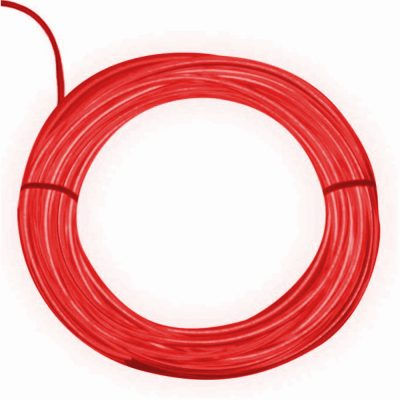 Electro Luminescent Wire 12 Foot Red All Products