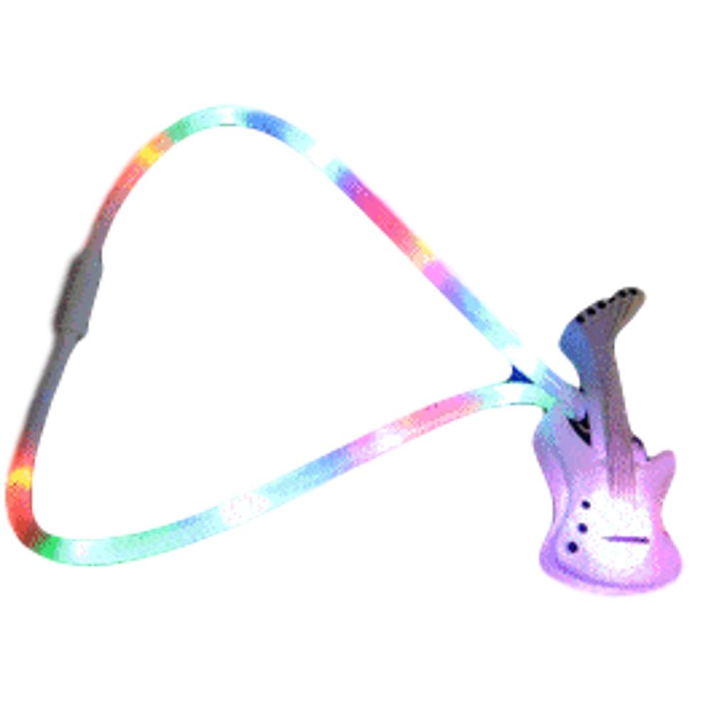 Flashing Guitar Charm Necklace with Lightup Lanyard All Products