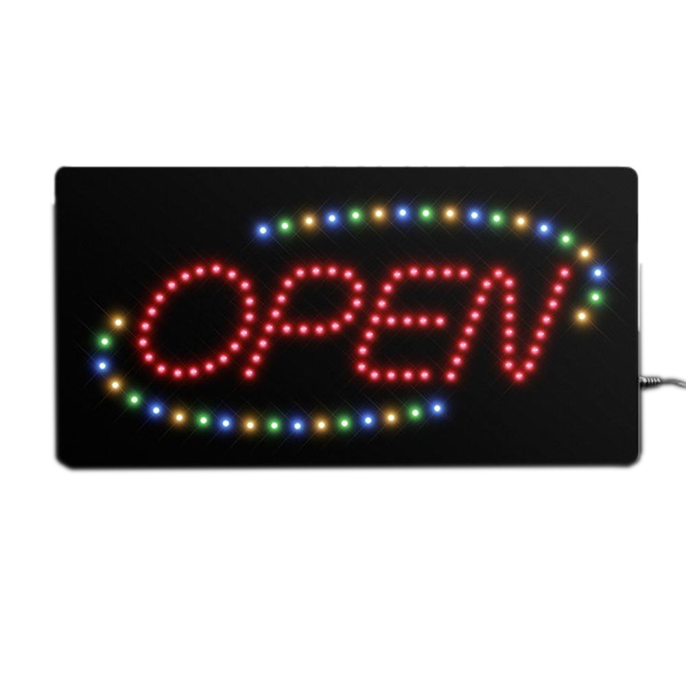 Multicolor LED Open Sign with A C Adapter All Products