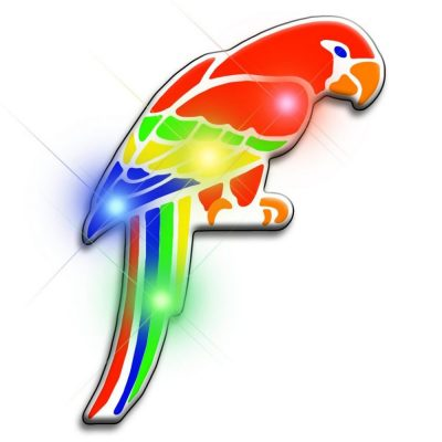 Parrot Flashing Body Light Lapel Pins All Body Lights and Blinkees
