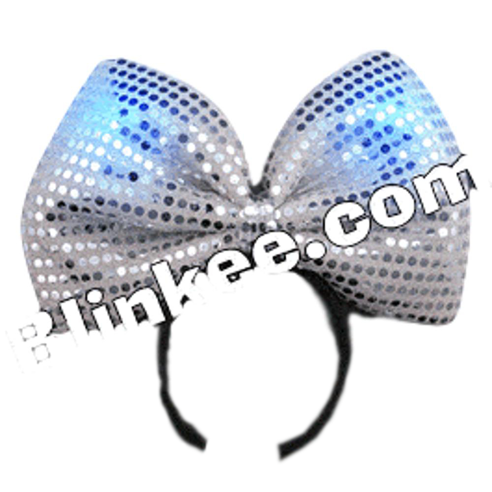LED Silver Sequin Bow Headband All Products