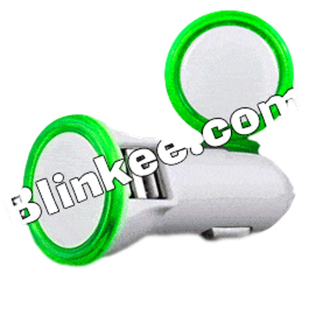 LED USB Port Car Charger Green All Products
