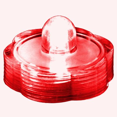 Submersible Floral LED Light Red All Products