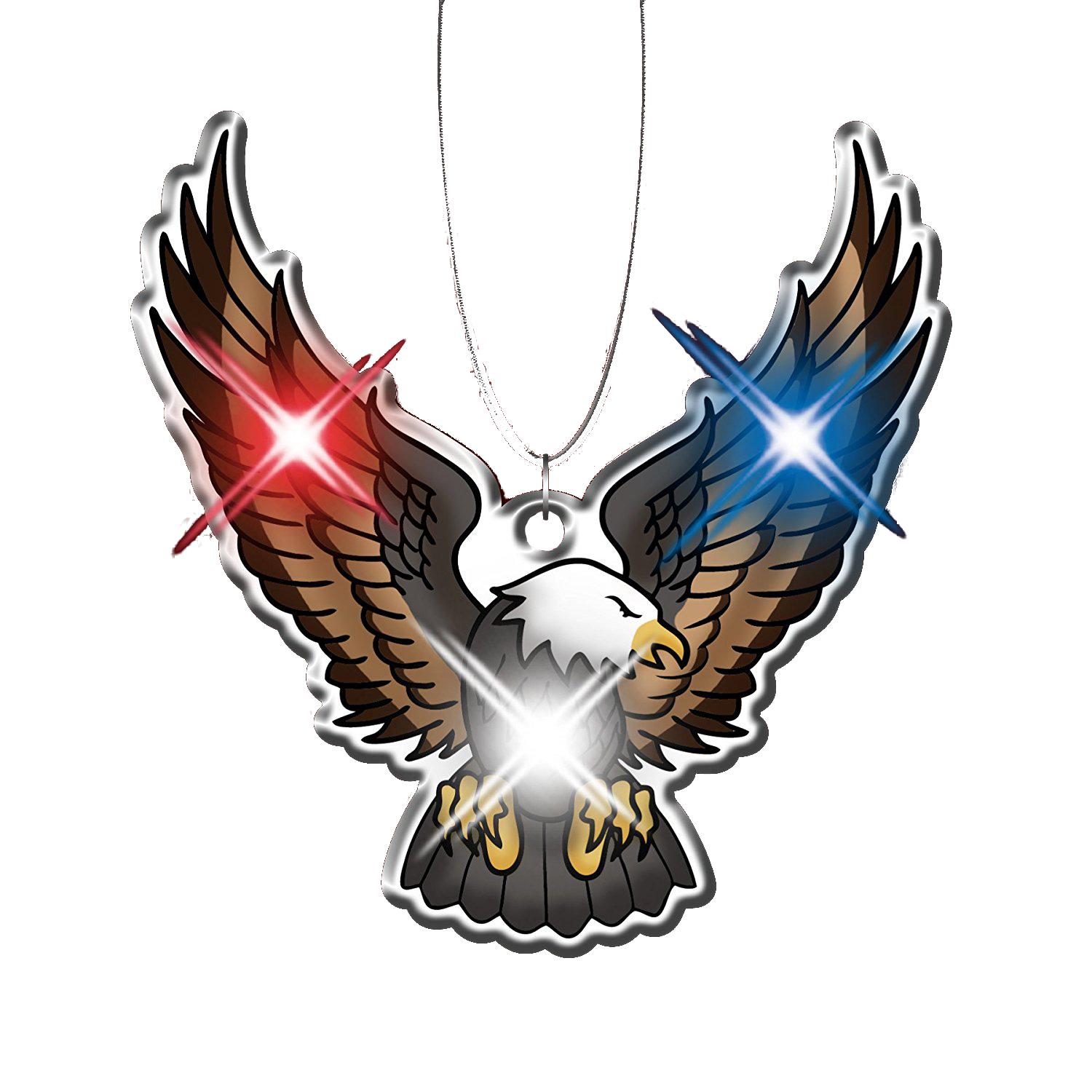 Eagle Necklace Flashing Body Light Lapel Pins 4th of July