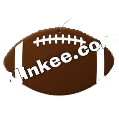 Football Medallion Charm with J Hook for Necklace All Products