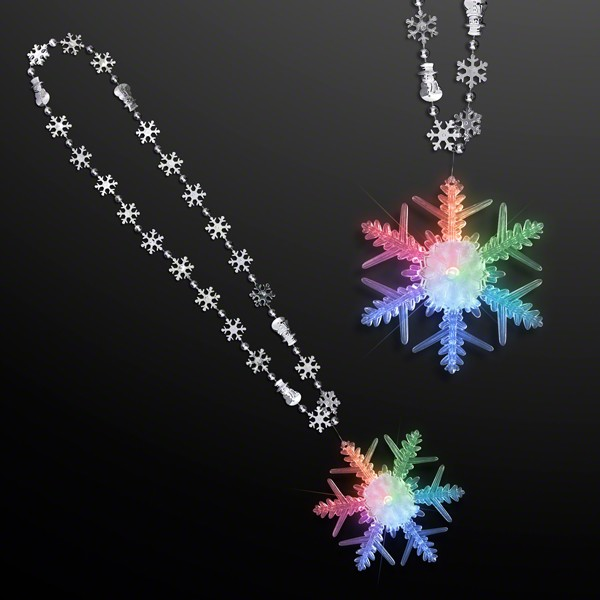 Snowflake Chain Necklace with LED Snowflake Charm All Products