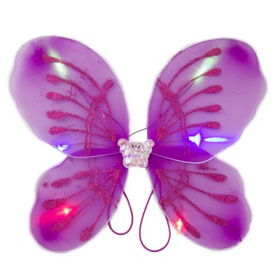 Light Up Fuchsia Fairy Butterfly Wings LED Accessories