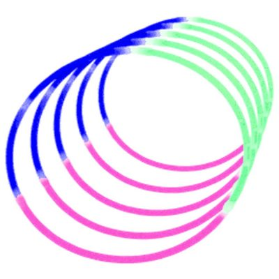 Glow Necklace Tri Color Pink Blue and Green Tube of Fifty All Products