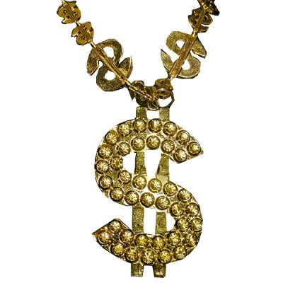 Dollar Sign Gold Bling Beads Pack of 12 All Products