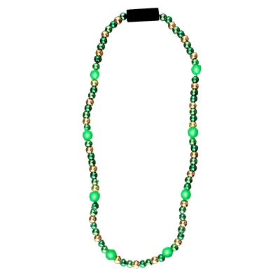 LED Bead Necklace Green and Gold All Products
