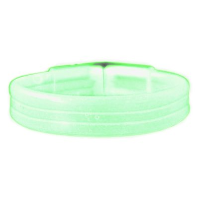 Wide Glow Stick 8 Inch Bracelet Green Pack of 30 Glow Bracelets