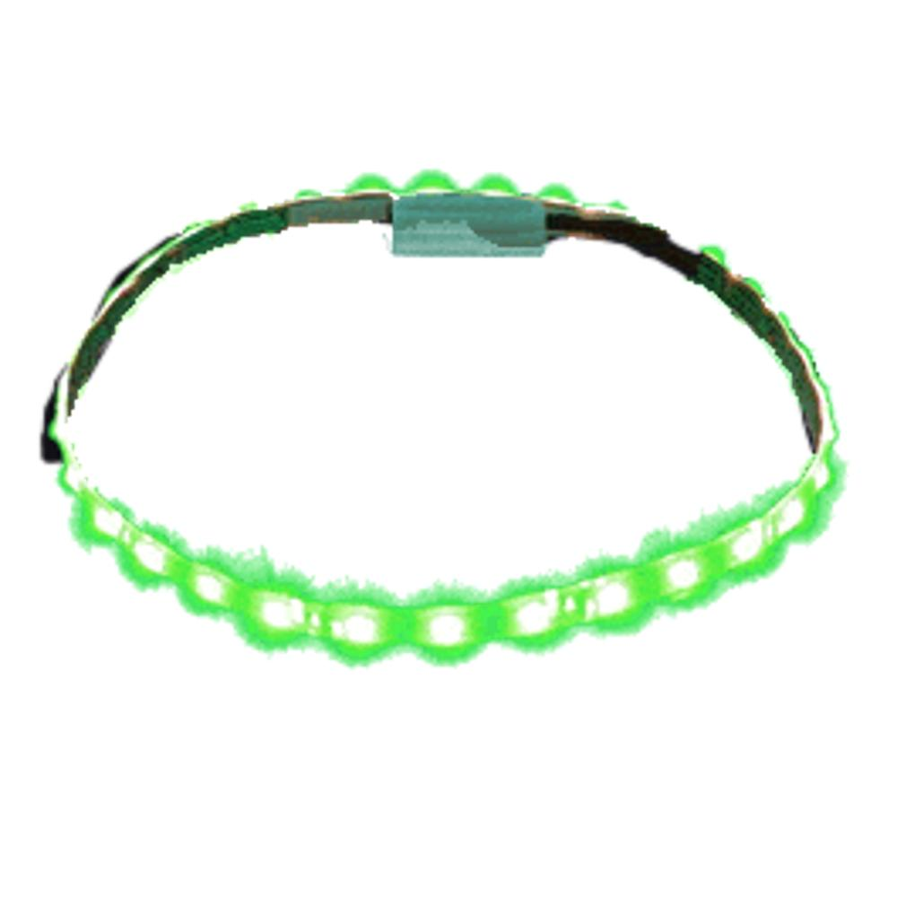 Green LED Flexible Light Strip White Background All Products