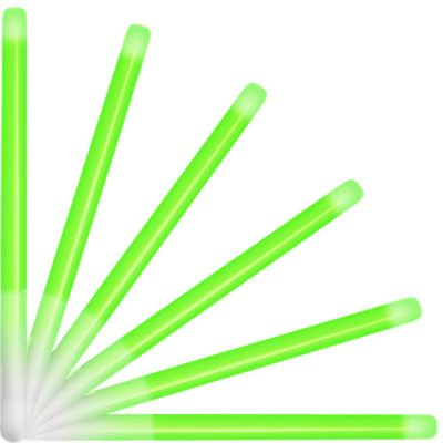 10 Inch Glow Stick Baton Green Pack of 25 All Products