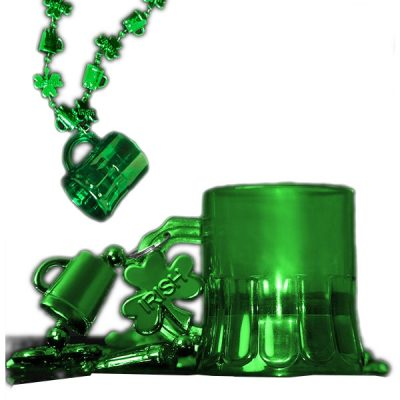 Shamrock Shot Glass Necklace Pack of 12 Beads
