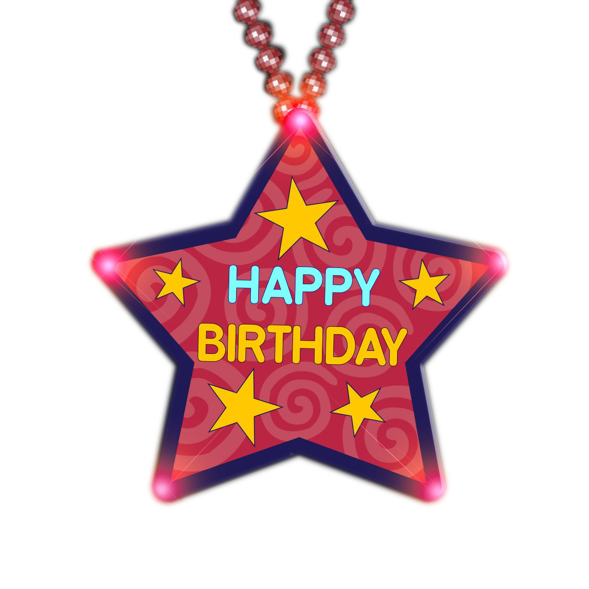 Huge Happy Birthday Star Beaded Necklace All Products