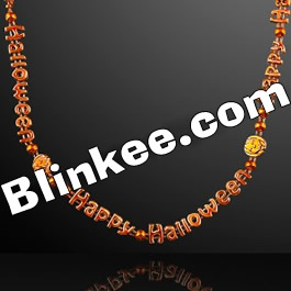 Happy Halloween Pumpkins Necklaces Pack of 12 All Products