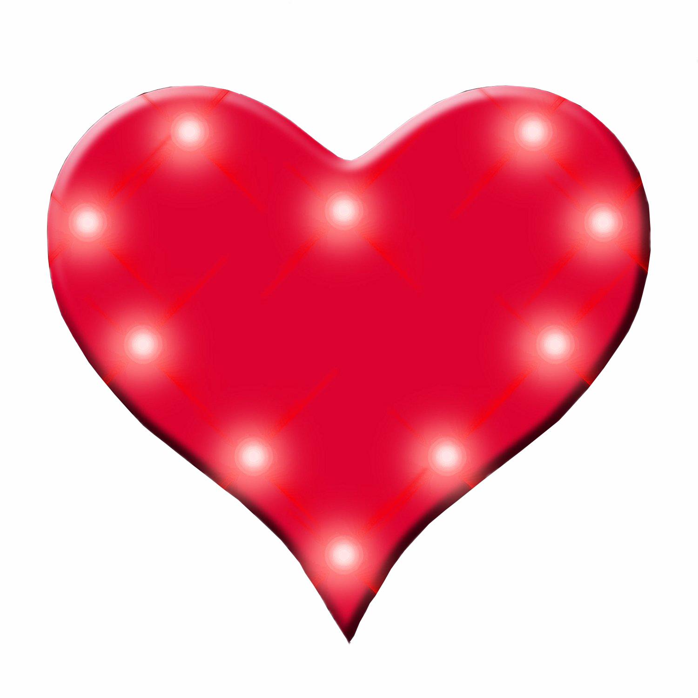 Red Heart Flashing Body Light Lapel Pins Magic Matt S