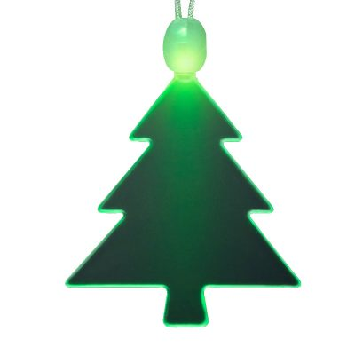 LED Acrylic Tree Necklace Lighted Christmas Necklaces