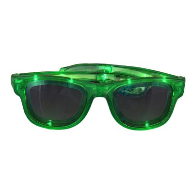 Green LED Nerd Glasses Green