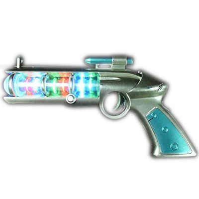 Light Up Spinning Barrel Space Gun All Products